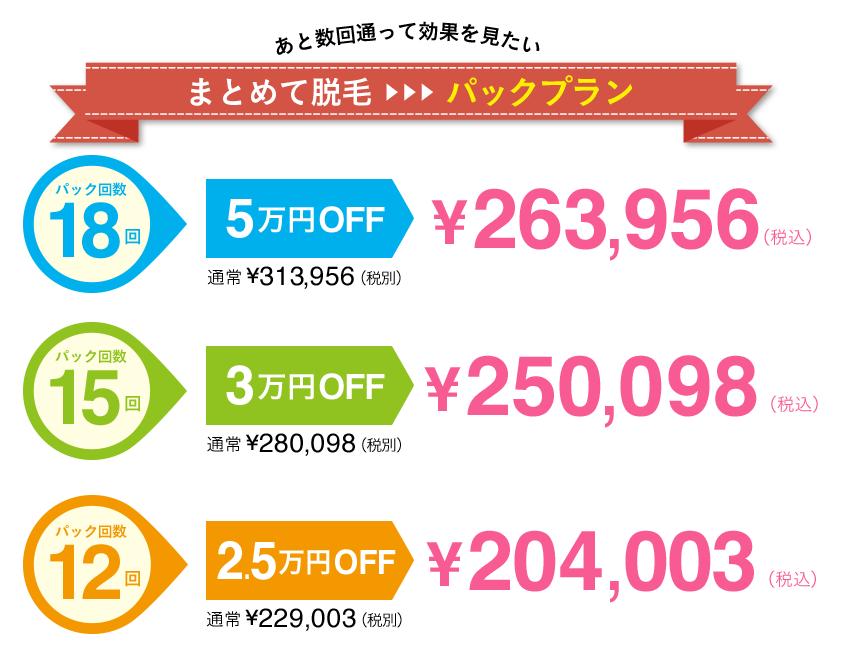 キレイモの乗り換え割で最大5万円お得になる料金表・詳細